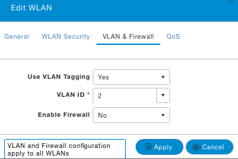 WLAN firewall settings