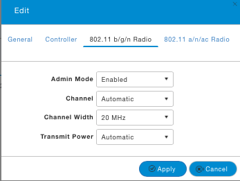 Configure 2.4 GHz Radio.