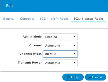 Configure 5 GHz radios.